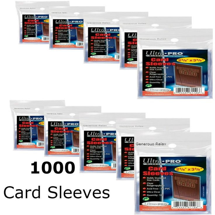 Card Sleeves and Bags 183437: Ultra Pro Soft Trading Card Sleeves 3000 1000 800 600 400 Protection Pokemon Mtg -> BUY IT NOW ONLY: $33.55 on eBay!