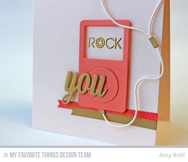 ... MP3 Player Die-namics, Keep On Rockin' Stamp Set - Amy Rohl #mftstamps