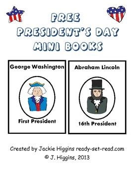 FREE President's Mini-Books ... Free printables   -Presidents Day activities for kids {Weekend Links} from  HowToHomeschoolMyChild.com