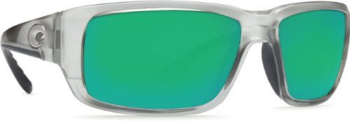 Costa Del Mar Sunglasses - Fantail- Glass / Frame: Silver Lens: Polarized Green Mirror 580 Glass