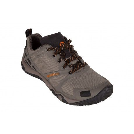 The Merrell Proterra Sport is a minimalist hiking shoe with a glove-like fit, bellows tongue and protective TPU rand and toe cap.