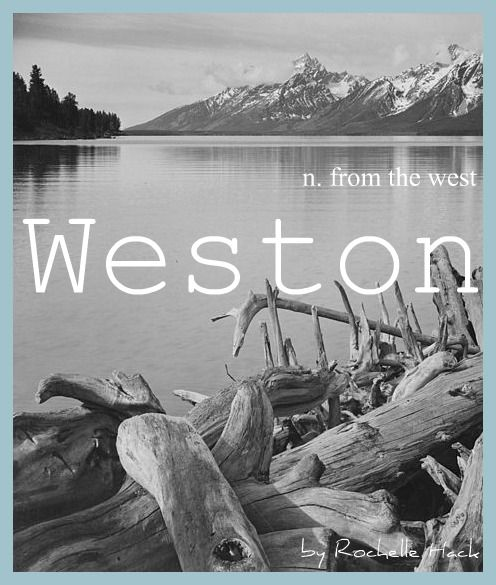 Baby Boy or Girl Name: Weston. Meaning: From the West. Origin: Old English. https://www.pinterest.com/vintagedaydream/baby-names/