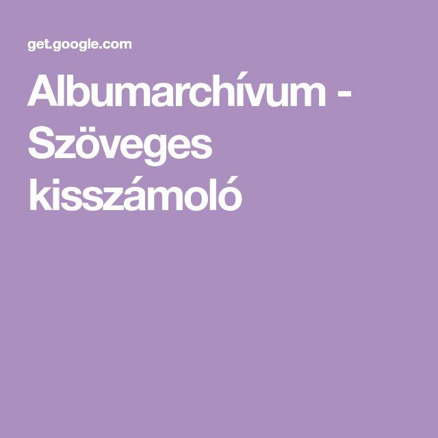 Albumarchívum - Szöveges kisszámoló