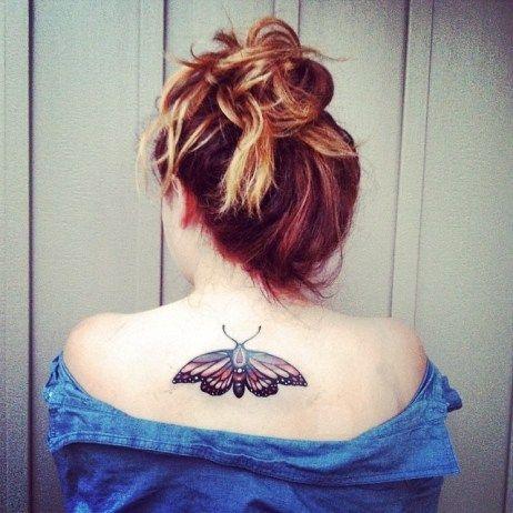 100 wunderschöne Schmetterlings-Tattoos auf verschiedenen Körperteilen