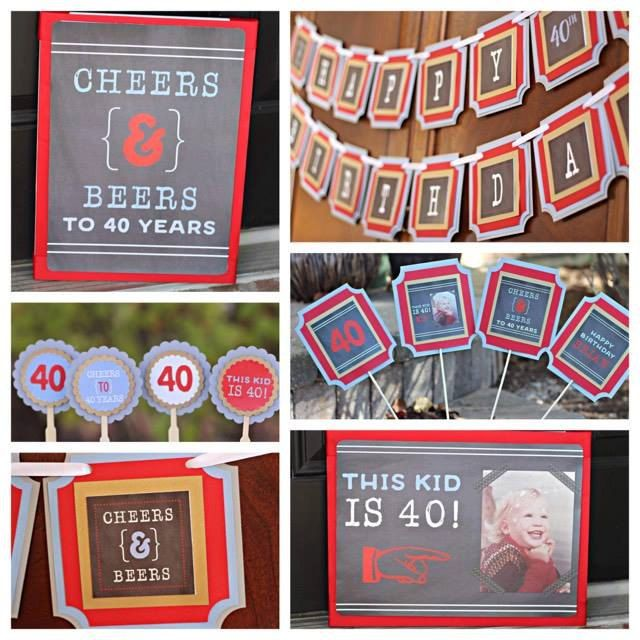 Image of: Tom Petty 40th Birthday 50th Birthday 60th Birthday 70th Birthday Party Decorations 5piece Box Pinterest Best This Kid Is 40 Party Images On Pinterest 40 Birthday