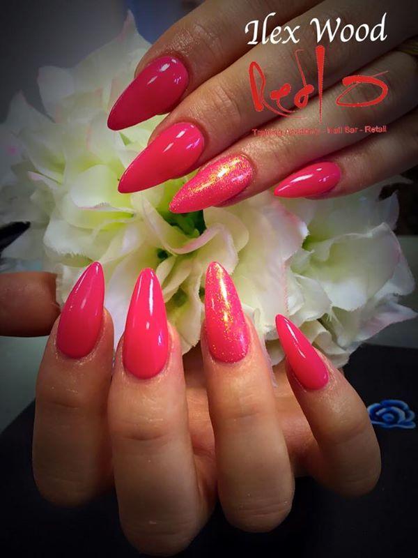 Bright Summer Nails, Shake it till you Samba Gelish, Bright Pink Nails, Pink Nails