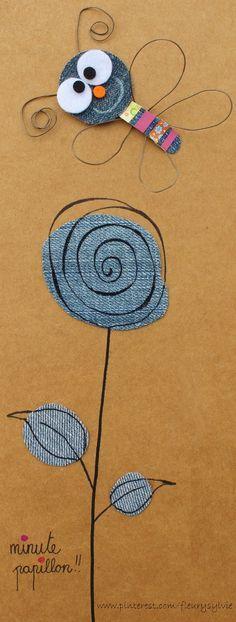 Minute papillon!! #jeans #recycle http://pinterest.com/fleurysylvie/mes-creas-la-collec/
