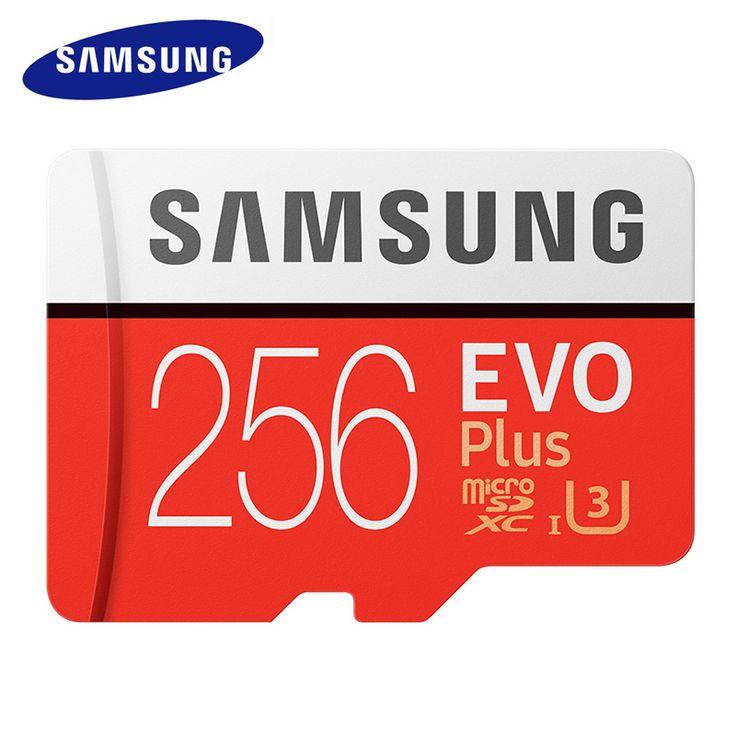 SAMSUNG Memory Card Up to 100 MB/s Micro sd 256g Card Class 10 TF Card SDXC Grade EVO+ Micro SD Memory Card Red micro sd memoria //Price: $155.76//     #shop