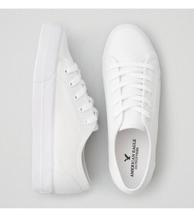 White AEO Lace Up Platform Sneaker $30