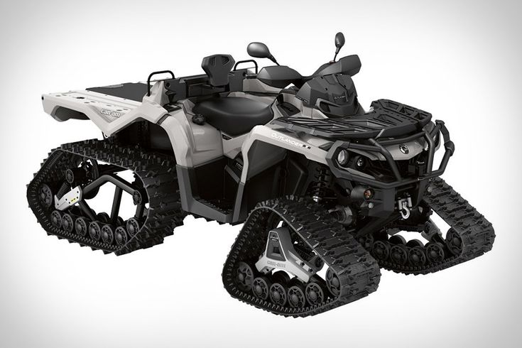 Four-wheelers are already adept at getting you places other vehicles can't go. But when deep snow and ice come, even they can use some help. The Can Am ATV Track System turns most Outlander and Renegade models into snow-chewing machines....