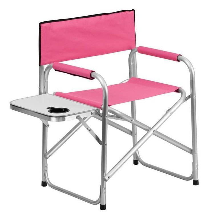 Portable Lightweight Aluminum Camping Pink Modern Patio Outdoor Folding Chair  #FlashFurniture