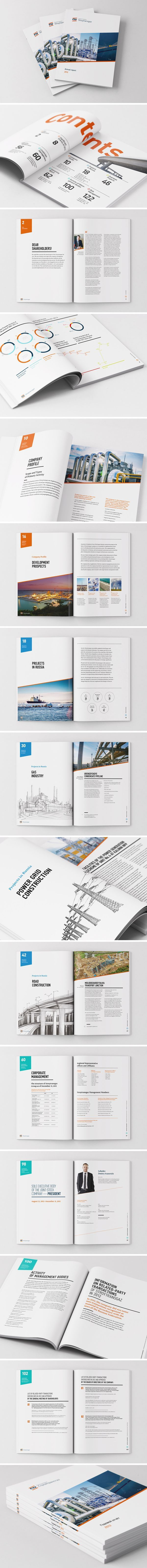 Stroytransgaz annual report by Praxis Advance, via Behance:
