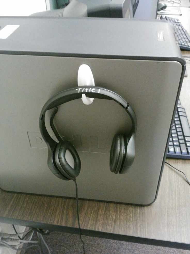 Keep your computer area cleaned up. Headphones have a place...put them there. :) Command hooks.