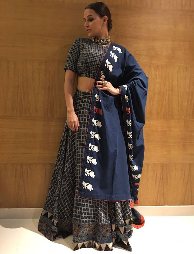Neha Dhupia's Lehenga Is Everything We Want In A Desi Look! - MissMalini