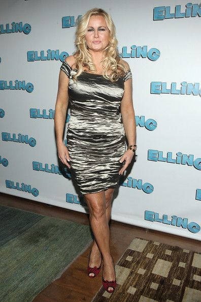 Jennifer Coolidge looks fetching in this silver dress.