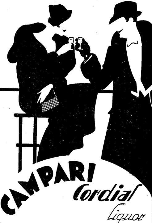 One of Campari's brilliant newspaper ads from 1937.