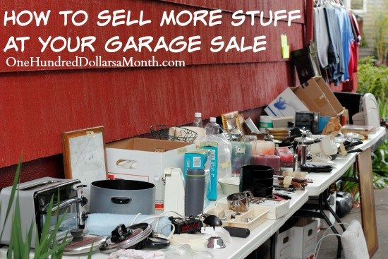how to sell at a yard sale