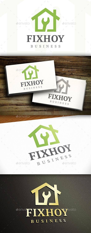 Fix House  Logo Design Template Vector #logotype Download it here:  http://graphicriver.net/item/fix-house-logo/9826154?s_rank=455?ref=nesto