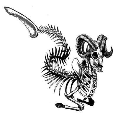 Skeleton Sea Goat Capricorn Tattoos for Men | Just Free Image Download