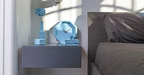 Falegnameria Semprelegno realizza mobili su misura per camere matrimoniali di design. Design Bedroom Made in Italy. Bespoke Furniture. Fitted Nightstand manufactured Italian Artisans.