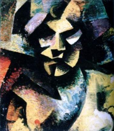 Self-Portrait -Mario Sironi - by style - Cubism