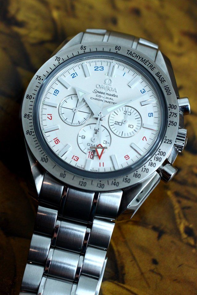 Omega Speedmaster Co-Axial Broad Arrow GMT Chronograph for $3,753 for sale from a Trusted Seller on Chrono24
