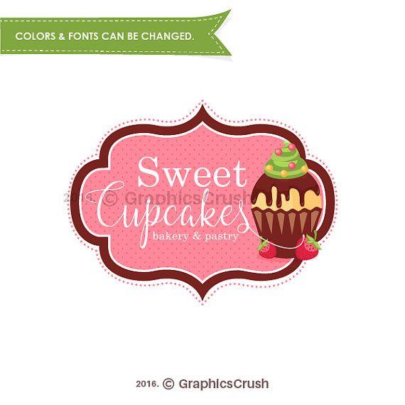 Cupcake Logo Design Bakery Logo Pastry Logo Sweet Logo Design OOAK Logo