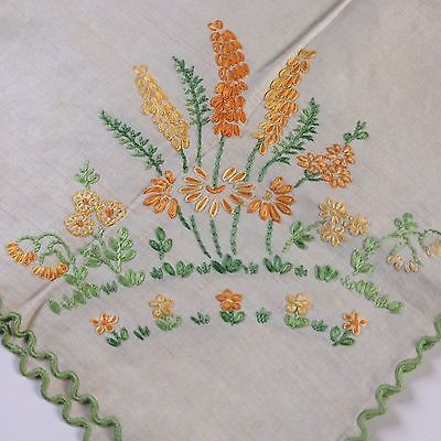 Vintage Cottage Garden Embroidered Tablecloth