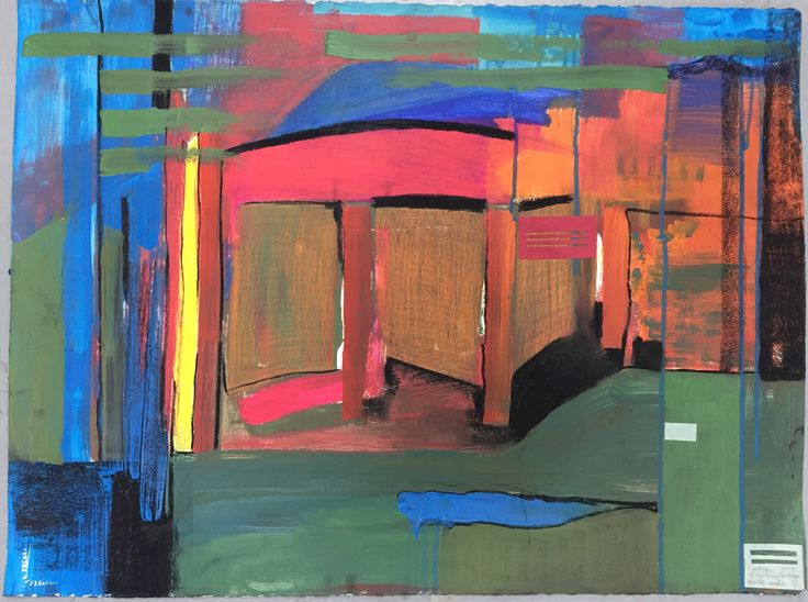 Cottage, mixed media on paper, 2007.