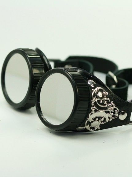 steampunk goggles..... Ooh, new googles to wear when we are on the Harley?????