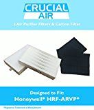 2 Honeywell R Air Purifier Filter & 1 A Carbon Filter Kit Fits HPA090 series HPA100 series & HPA300 series Compare to Part # HRF-ARVP Designed & Engineered by Crucial Air
