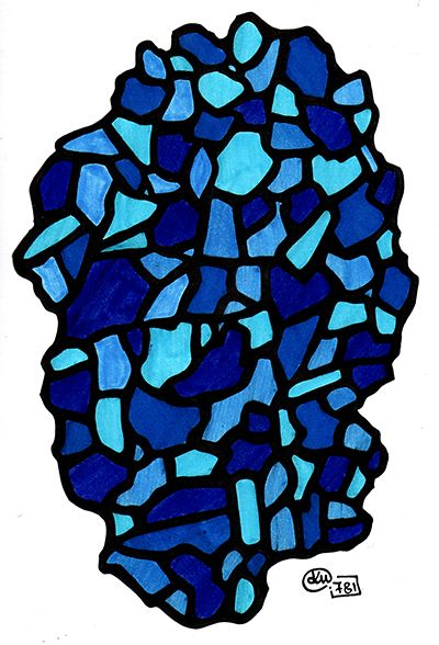Katerina Pappou: stained glass | day781