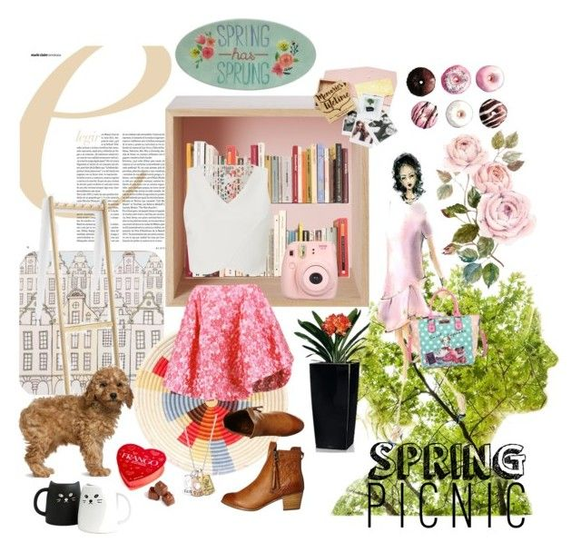 """Spring memories"" by katherine-chocolate on Polyvore featuring Rosa & Clara Designs, Muuto, West Elm, Nicole Lee, Disney, Simone Rocha, Lipsy, Billabong and Frango"