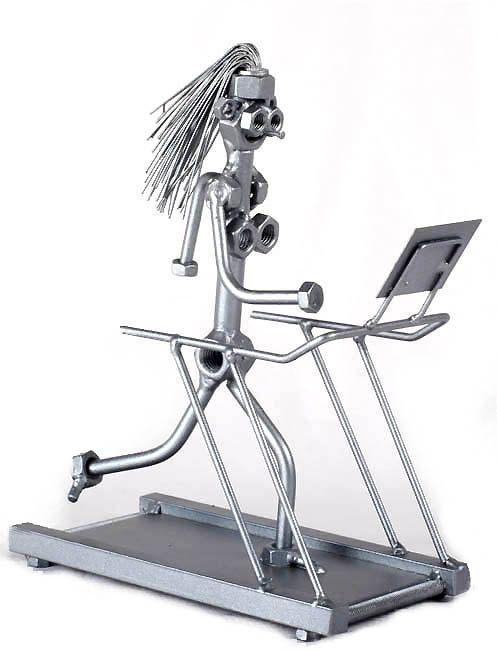 Fitness Lady Unique Collectible Metaldiorama Metal by MetalDiorama