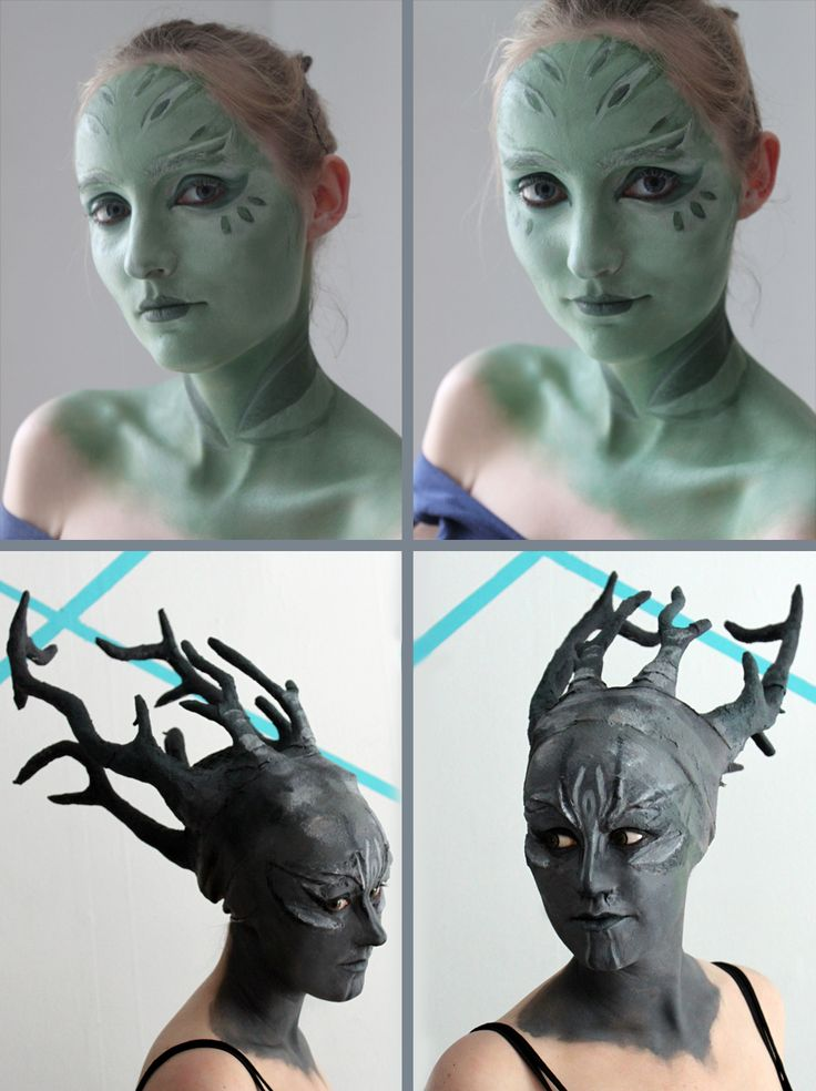 Guild Wars 2 Sylvari Cosplay Progress - Make-up and Prosthetics by ~xPandorae on deviantART