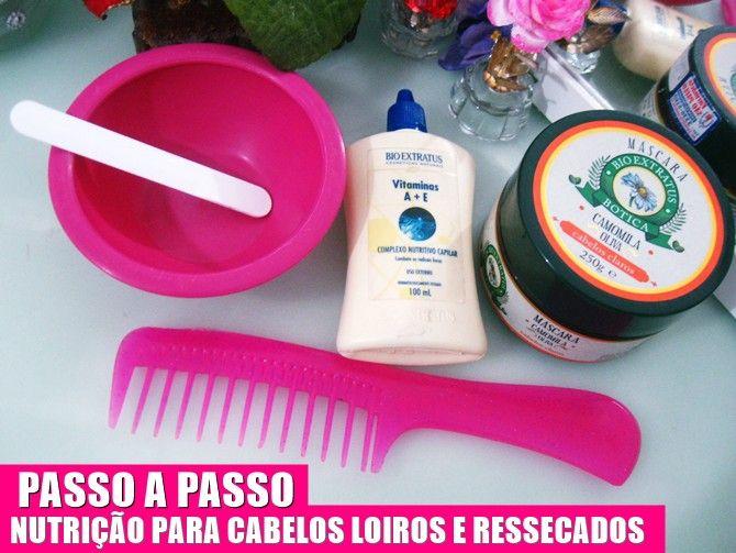 Post completo:  http://www.cuidadosevaidades.com.br/2014/12/passo-passo-nutricao-para-cabelos-loiros.html