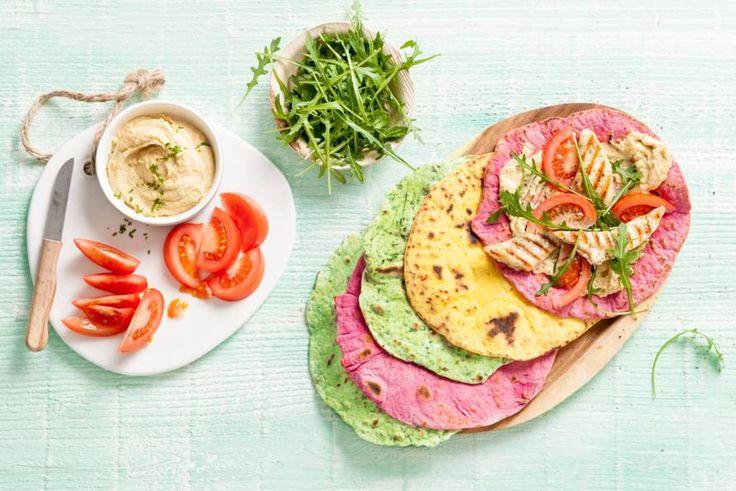Met groenten naar keuze maak je van deze tortilla een kleurrijk geheel!