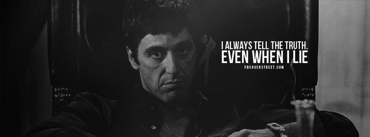 Quotes Scarface Facebook Cover Pinterest Cover