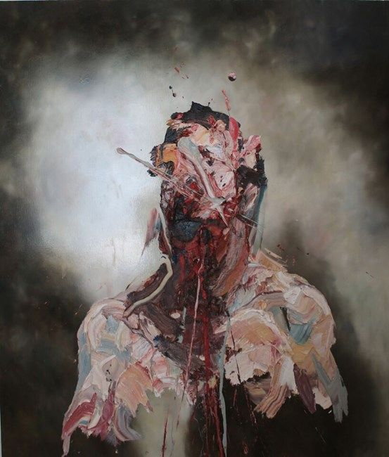 Self-Portrait with blue slash No. 2 by Antony Micallef at Pearl Lam Galleries   Ocula
