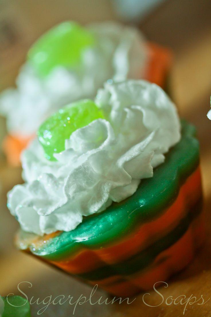 Mango Sorbet cupcake soap