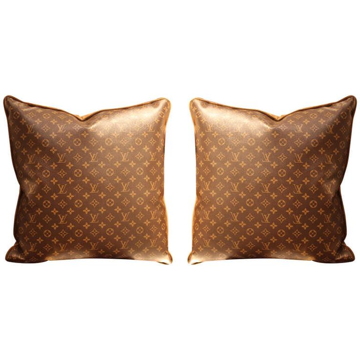 Large Louis Vuitton Throw Pillows | From a unique collection of antique and modern pillows and throws at http://www.1stdibs.com/furniture/more-furniture-collectibles/pillows-throws/