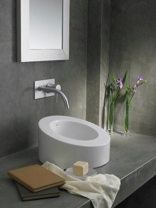 Griferia Para Baño Fv:Otro estilo con Grifería Temple Monocomando para lavatorio de pared