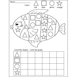 shapes graphing activity - Shape Pictures To Colour