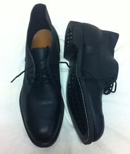 Men's Size 14 Craddock Terry Black Leather Military Shoes Dress Shoes Steel Toe