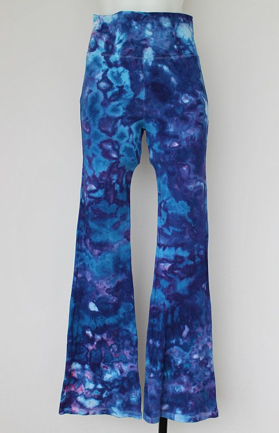 Tie dye yoga pants ice dyed  Size Medium  by ASPOONFULOFCOLORS