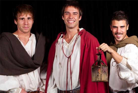 Romeo, con Álex Barahona, Bernabé Fernández y Javier Hernández. Teatro Galileo. Madrid