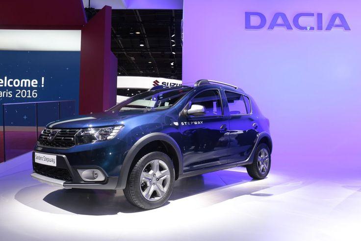 Le Dacia Sandero Stepway au mondial de l'auto 2016 #Dacia #Sandero #voiture #Stepway