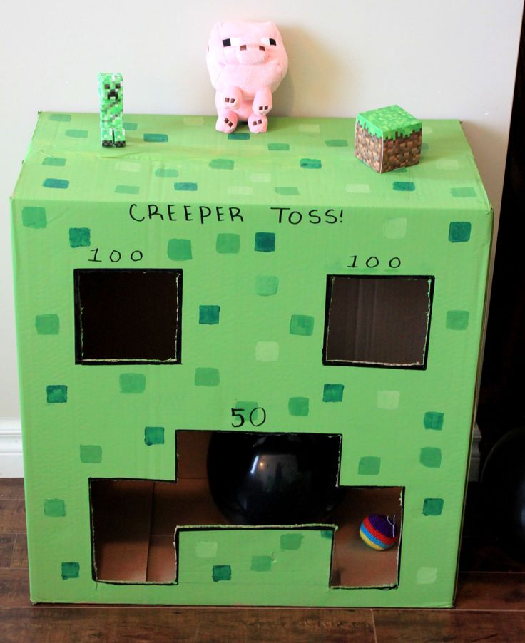 creeper toss minecraft party game