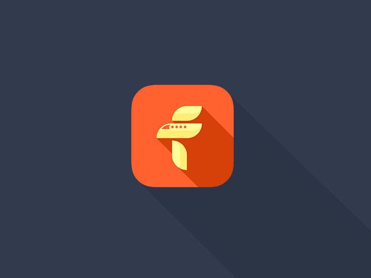 'Famish' ios app flat icon by Aditya Chhatrala