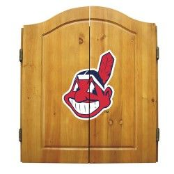 The MLB Dart Board Cabinet Set is a great gift idea to give to a sports fan. It comes with all the equipment needed to play the game of darts. It features a beautiful wood cabinet that displays a large team logo right on the center of doors, contains 6 MLB steel tip darts so you can play against another team, a regulation size bristle dart board and 2 scoreboards with chalk and eraser so you can keep score. Enjoy the game of darts with family and friends before or after a game and represent…